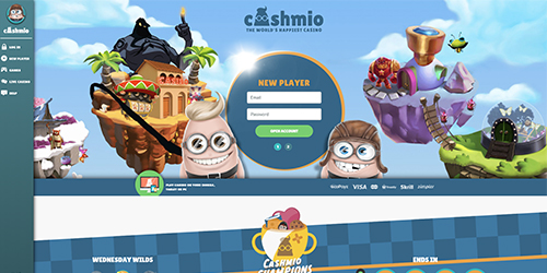 Cashmio Casino Interface