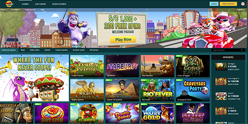 LuckLand Casino Interface